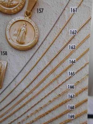 Cadena De Oro 18 Kt, 50 Cm, Referencia 163, Joyeria Mimi