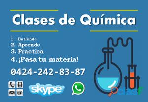 Clases particulares de Química en Caracas