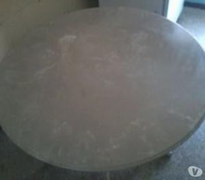 Juego de comedor en mármol y 4 sillas