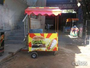 Venta de carros para perros caliente y hamburguesas