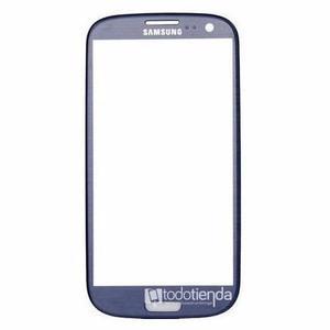 Mica Vidrio Cristal Samsung Galaxy S3 I9300 Azul Metalizado