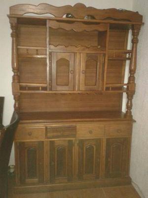 Mueble Clásico En Madera Samán Doble Tipo Bar