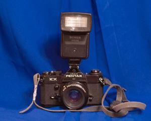 Camara Pentax Kx 35mm Con Pentax A 50mm F: 1:2.0 Y Flash