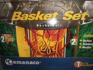Juego De Basket Con Tablero,malla Y Pelota #3.tamanaco