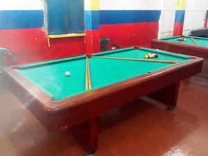 Mesas De Pool + 10 Tacos Y Juego De Bolas