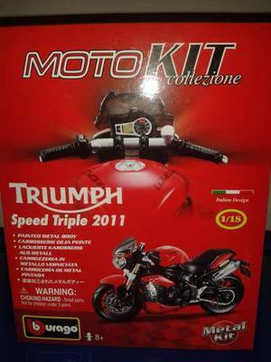 Moto Kit Burago Para Armar Modelo Triumph Speed Triple