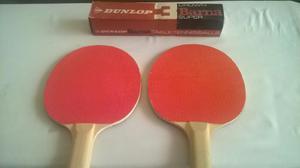 Raquetas De Ping Pong Y Set De 6 Pelotas Dunlop
