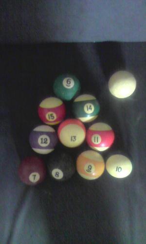 Bolas de Pool Usadas en Buen Estado