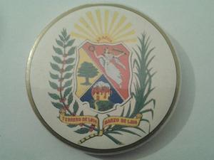 Chapa Con El Escudo Del Estado Aragua. Con Espejo