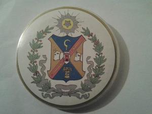 Chapa Con El Escudo Del Estado Lara Con Espejo.vintage