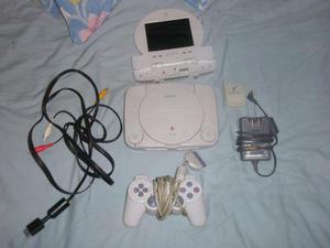 Consola Ps1 Chipeado + Control Y Memory Card