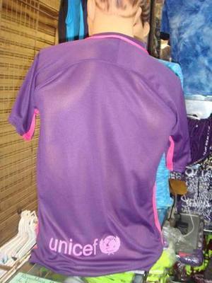 Franelas Camisetas Del Barcelona Fc  Morada Caballeros