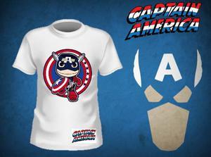 Franelas De Super Heroes Para Niños Capitan America