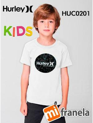 Franelas Niños Hurley, Volcom, Nike,quiksilver, Vans