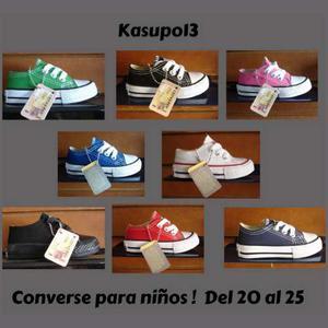 Kp3 Zapatos Converse All Star De Colores Para Niños  !