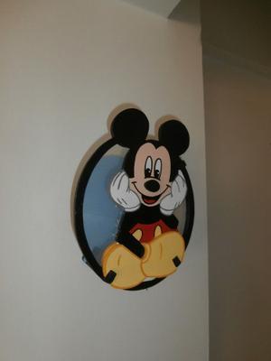 Lámpara De Mesa Y Aplique Mickey
