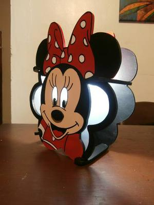 Lámpara Mesa Y Aplique De Minnie