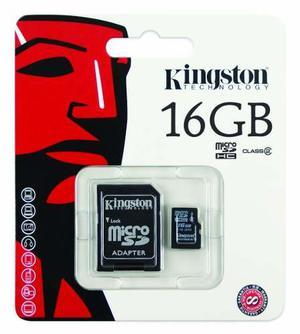 Memoria Kingston Micro Sd 16 Gb Con Adaptador