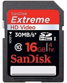 Memoria Sandisk Extreme De 16gb, Como Nueva Poco Uso
