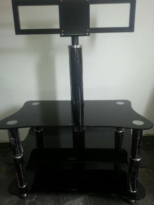 Mesa para tv de vidrio templado negro posot class for Vidrio templado mesa