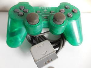 Play Station 1 Control Verde Transparente, Para Repuesto