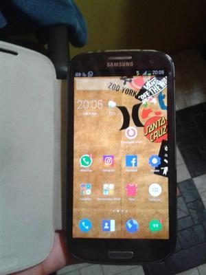 Samsung Galaxy s3 grande minimo detalle de mica estillada
