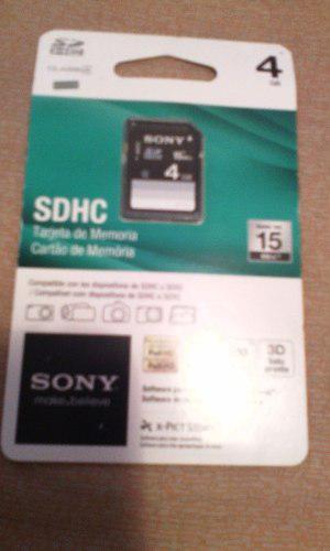 Tarjeta De Memoria Sony Sdhc