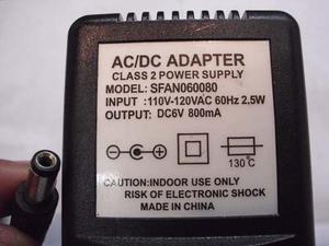 Transformador / Adaptador 6v-800ma. En Caracas, Somos Tienda
