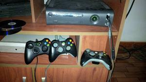 Xbox 360 Elite 120gb, Chipeado + 3 Controles + Juegos