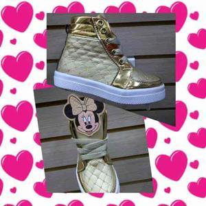 Zapatos Botas De Minie Para Niñas