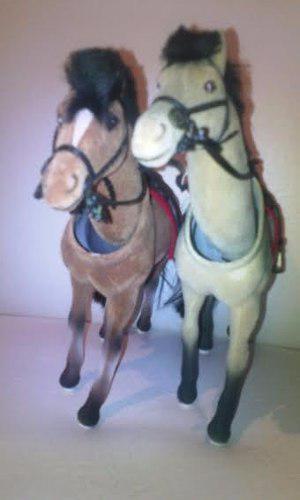 Caballos De Juguete De Paso Naturales De Colección. Pony.