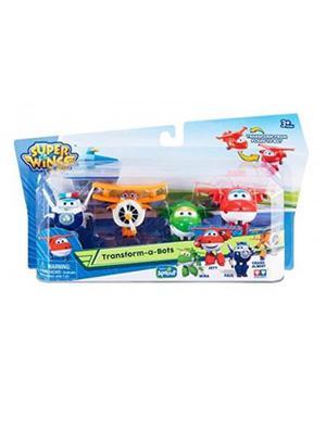 Super Wings Transform-a-bots Jett, Grand Albert, Mira Y Paul