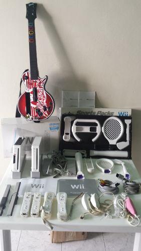 Nintendo Wii 2 Consolas + Guitar Hero + 2 Sport Packs