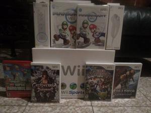 Nintendo Wii Original / 6 Juegos / 2 Controles + 2 Nunchuck