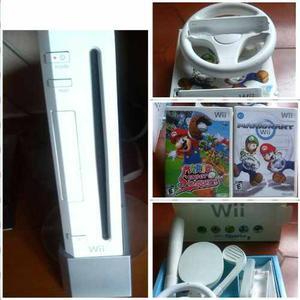 Nintendo Wii Original Con Accesorios Y Juegos