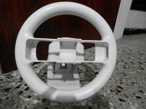 Volante + Base Tipo Carro Originales Para Nintendo Wii