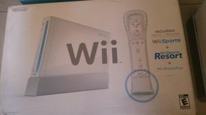 Wii Resort Sport Original Consola +chip Como Nueva Poco Uso