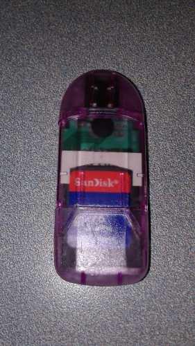 Adaptador De Memorias Sandisk Sd Y Micro Sd Tipo Pen Drive