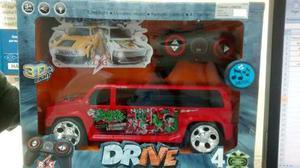 Carro A Control Remoto Con Pila Recargable Luces Y Sonido