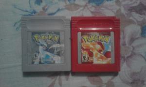 Cartuchos Gbc, Pokemon Rojo Y Pokemon Silver Originales