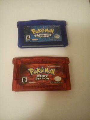 Juegos De Pokemon Rubi Y Safiro Gba