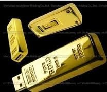 Pen Drive 256 Gb. Modelo Lingote De Oro. Nuevo!