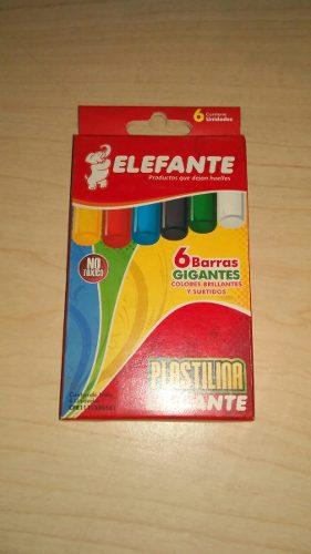 Plastilina Elefante 6 Barras Gigantes