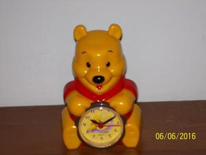 Reloj Despertador Winnie Pooh, Nuevo, De 12 Cm De Alto