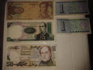 Billetes de coleccion de Venezuela