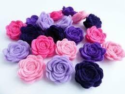 Flores De Fieltro Para Cintillos Y Lazos