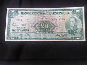 billete de 20 bs del año  se vende para coleccionistas