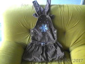 vestido para niñas de tela pana. LARA BARQUISIMETO