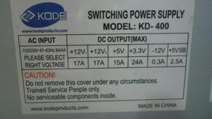 Fuente de Poder de 400watts