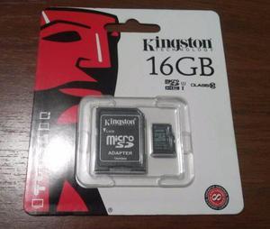 Memoria Micro Sd 16gb Clase 10 Kingston Con Adaptador Nueva